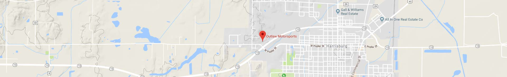 Location Map for Outlaw Motorsports
